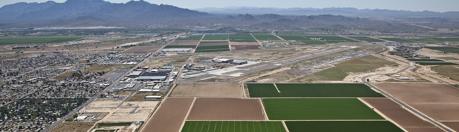 Aerial view of Western Avenue Plume site area near Phoenix Goodyear Airport