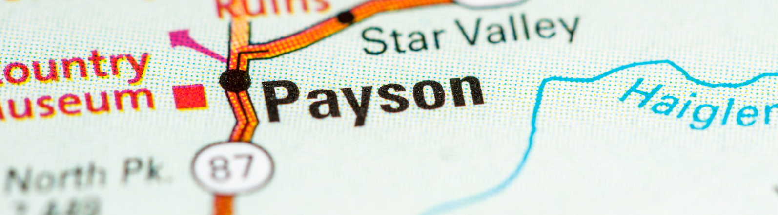 Town of Payson, Arizona on a map