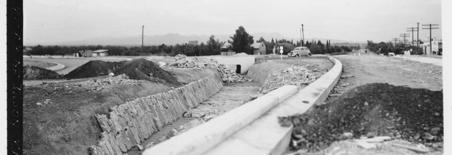 1937 Miracle Mile improvements under construction