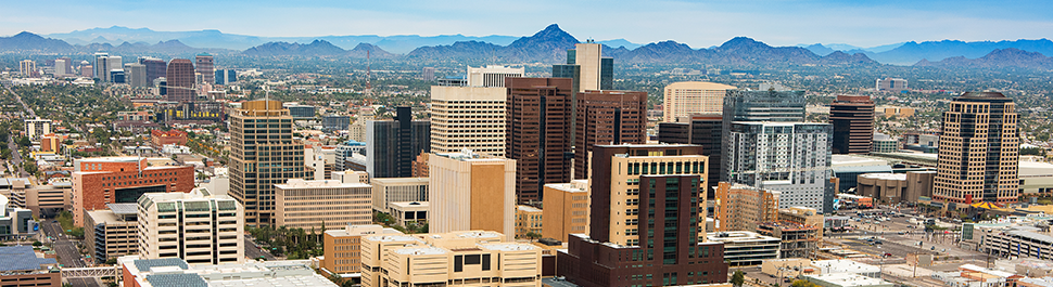 Image of the skyline of downtown phoenix