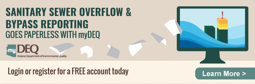 Sanitary sewer overflow (SSO) and bypass reporting goes paperless with myDEQ